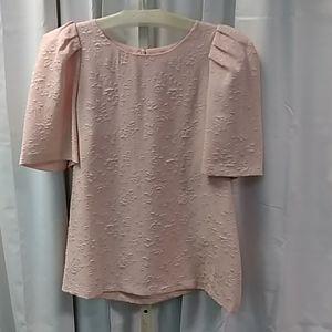 NWT Calvin Klein blush puff sleeve top M